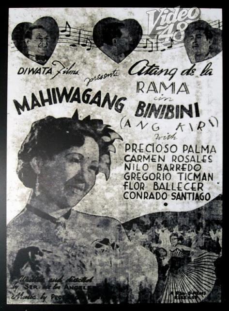 Mahiwagang Binibini.  Pelikula ni Atang de la Rama.  Mula sa Video 48.