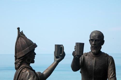 Ang tradisyunal na sayt ng Sanduguan na pinatayuan ng monumento na obra maestra ni Napoleon V. Abueva.