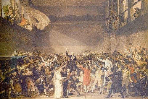 Ang Tennis Court Oath, isa sa mga nagpasiklab ng himagsikang Pranses, June 20, 1789.