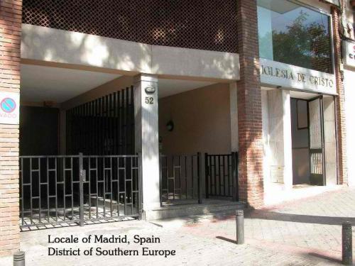 Iglesia ni Cristo sa Madrid, Espanya, bansa na nagbigay sa Pilipinas ng Katolisismo.