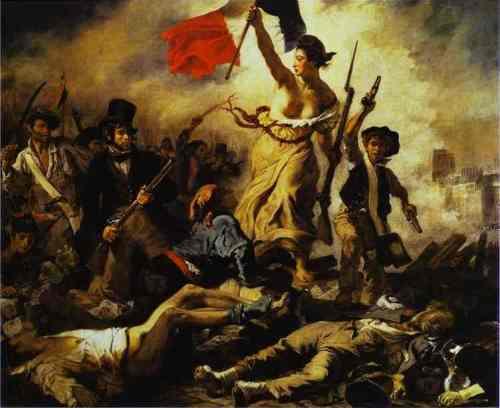 La Liberté guidant le peuple (Liberty Leading the People) ni Eugène Delacroix, 1830.