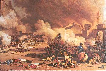 Ang Commune ng Paris ng August 10, 1792 -- Pagkubkob sa Palasyo ng Tuileries.  Mula sa http://www.newworldencyclopedia.org.
