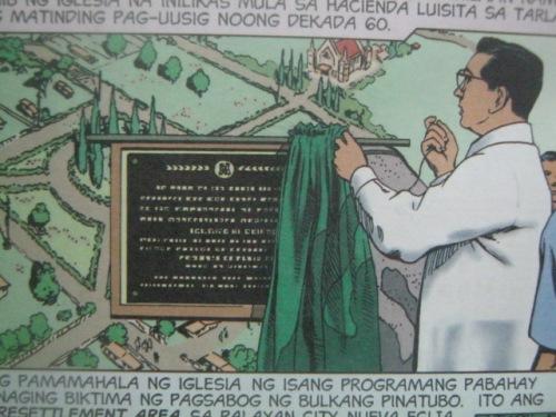 Pagbubukas ng Barrio Maligaya sa Nueve Ecija.  Mula sa Liwanag Komiks.