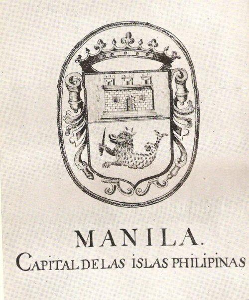 Ang sagisag ng kolonyal na Lungsod ng Maynila.