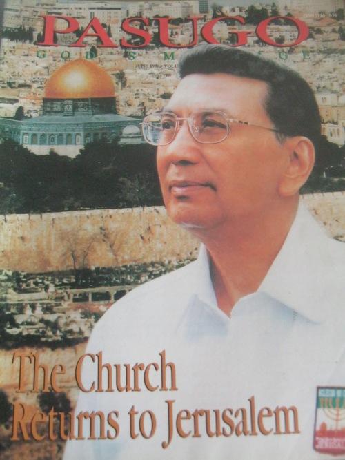 Ang Ka Erdy sa Jerusalem, 1996.  Mula sa Pasugo.