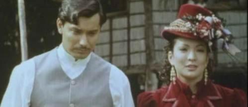 """Si Albert Martinez bilang si Jose Rizal, at si Amanda Page bilang si Josephine Bracken.  Stills  mula sa pelikulang """"Rizal sa Dapitan."""""""
