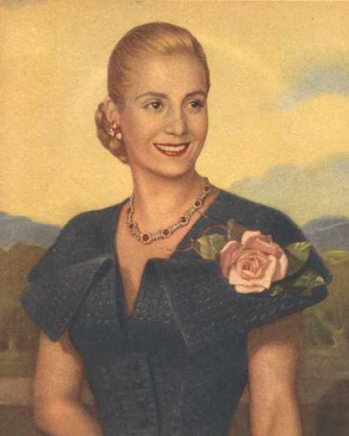 Maria Eva Duarte de Peron, opisyal na larawan pang-estado, 1947.
