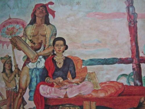 """Si Kalantiaw at Lubluban.  Obra maestra ni Carlos """"Botong"""" Francisco, Pambansang Alagad ng Sining sa Sining Biswal. Mula sa Vibal Foundation, Inc."""