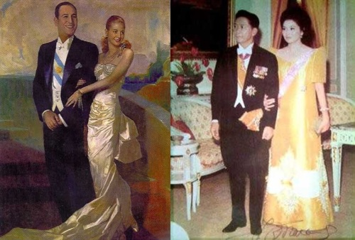 Sina Juan at Eva Peron ng Argentina at sina Ferdinand at Imelda Marcos, royalty!