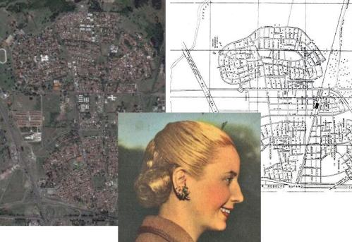Ang housing project na Ciudad de Evita ni Eva Peron.