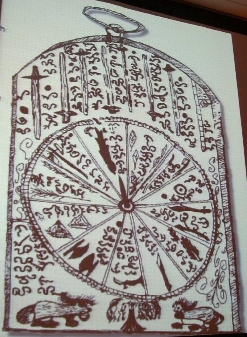 Sinaunang kalendaryo raw ng mga sinaunang Pilipino na gawa ni... Jose Marco.  Mula kay Dr. Ambeth R. Ocampo.