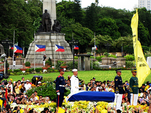 Cory Aquino Funeral at the Luneta, August 5, 2009.