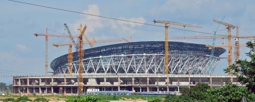 Ang Philippine Arena sa Bulacan, ang pinakamalaki sa buong daigdig, ay ipinapatayo ng Iglesia ni Cristo bilang bantayog sa kanilang ika-100 taong pag-iral.