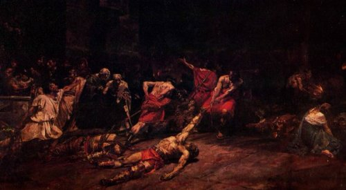 Spoliarium, 1884, nasa National Art Gallery, National Museum of the Philippines.