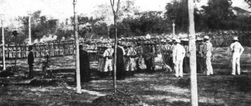 Aktwal na larawan ng pagbaril kay Gat Dr. Jose Rizal noong 30 December 1986 sa ganap na 7:03 ng umaga.