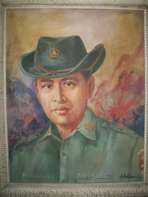 Floro Singson Crisologo bilang isang beterano, obra maestra sa loob ng Crisologo Memorabilia Museum sa Vigan, Ilocos Sur.