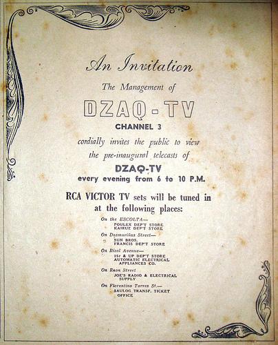 Paanyaya sa mga test broadcast ng ABS DZAQ-TV Channel 3.