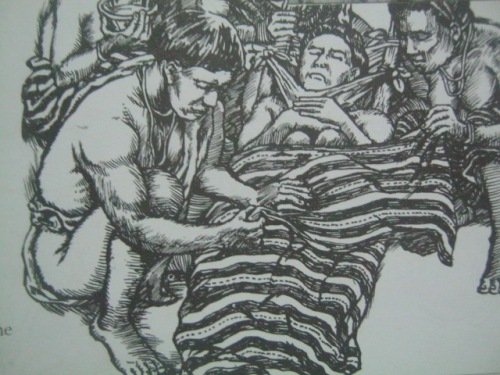 Paglilibing sa Cordillera.  Mula sa Filway's Philippine Almanac (1995).