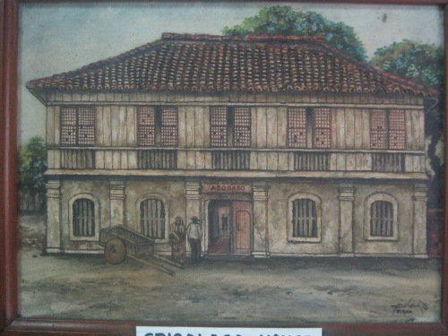 Ang matandang itsura ng tahanan ng mga Crisologo na ngayon ay isang museo.  Mula sa Crisologo Memorabilia Museum sa Vigan, Ilocos Sur.