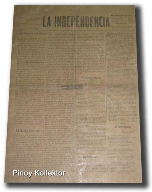 La Independencia.  Mula kay Pinoy Kolektor.