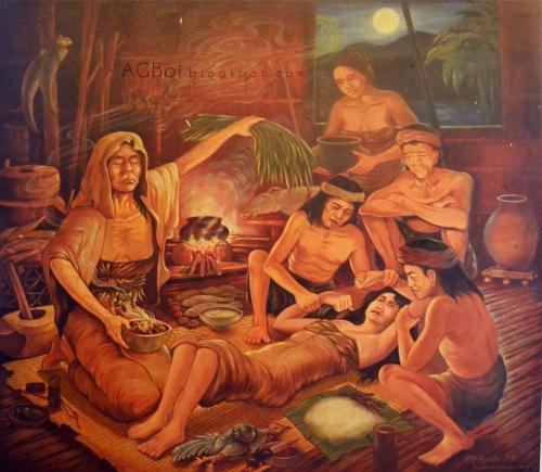 Ang Babaylan.  Obra ni R. Aguilar oara sa Museo ng Negros.  agboiblogspot.com.