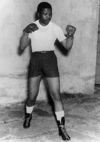 Si Mandela bilng boksingero.
