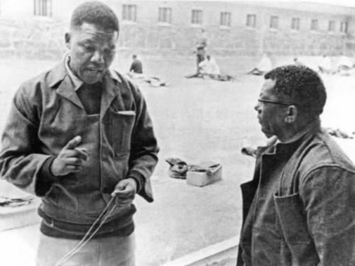Si Mandela bilang isang preso.