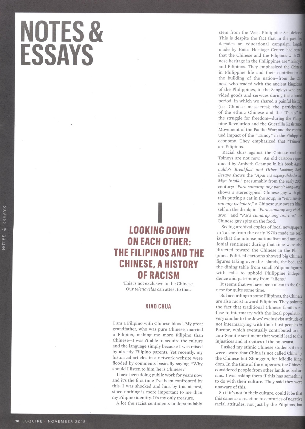 Xiao Chua - Esquire - The Filipinos and the Chinese 02b